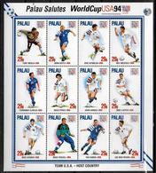 PALAU Feuillet N° 726/37 * * ( Cote 12e ) Cup 1994 Soccer Fussball Football - World Cup