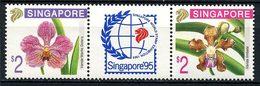 SINGAPOUR 1996 N° 739/740 ** Neufs MNH Superbes C 8 € Flore Fleurs Orchidées Vanda Limbata Flowers - Singapour (1959-...)