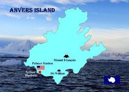 Antarctica Anvers Island Map New Postcard - Ansichtskarten
