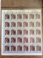 Laos 1984, Charles IV, Holy Roman Emperor, Francisco Goya (o), Used, Complete Sheet (2 Scans) - Laos