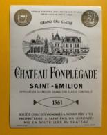 9914 - Château Fonplégade 1961 Saint-Emilion - Bordeaux