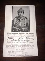 Sterbebild Wk1 Ww1 Bidprentje Avis Décès Deathcard IR14 SOUAIN TAHURE 196 Aus Leugas - 1914-18