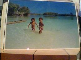NOUVELLE-CALEDONIE. SCENE ON RIVER ENFANT  BAMBINI ISLE OF PINES S1987 HA7689 - Nuova Caledonia