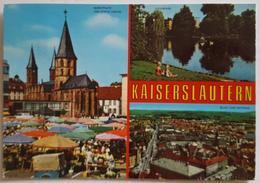KAISERSLAUTERN Multiview - Marktplatz Und Stifts Kirche - Volkspark - Blick Vom Rathaus  Vg G2 - Kaiserslautern