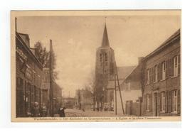 Wechelderzande.- Het Kerkzicht En Gemeenteplaats  -  L'Eglise Et La Place Communale - Lille