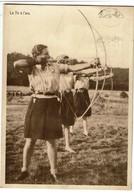 Louette-St-Pierre - Camp De Vacances Y.W.C.A. - Les Fauvettes - Tir à L'Arc - Circulée - 2 Scans - Scoutisme