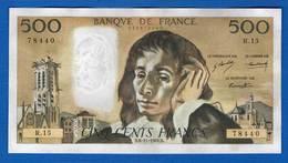 500 Fr  6/11/1969 - 500 F 1968-1993 ''Pascal''