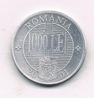 1000 LEI 2001 ROEMENIE /0923/ - Roumanie