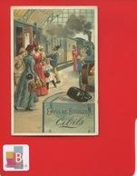 CIBILS Jolie Chromo Une Gare Train Vapeur  Départ Voyage Bagages  Joli Verso  INDIEN CHEVAL - Other