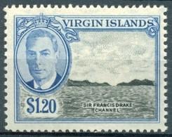 Iles Vierges - 1952 - Yt 109 - Série Courante George VI - * Charnière - Iles Vièrges Britanniques