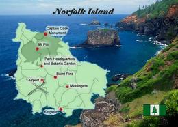 Norfolk Island Map New Postcard Landkarte AK - Norfolk Island