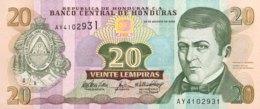 Honduras 20 Lempiras, P-92 (26.8.2004) - UNC - Honduras