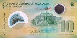 Nicaragua 10 Cordobas, P-201a (2012) - UNC - Nicaragua