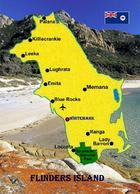 Flinders Island Map New Postcard - Australie