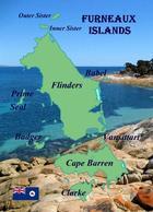 Furneaux Islands Map New Postcard - Australie
