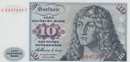 (B0116) GERMANY - FEDERAL REPUBLIC, 1960. 10 Deutsche Mark. P-19. UNC - [ 7] 1949-… : RFA - Rep. Fed. Tedesca