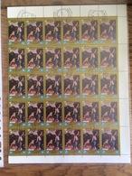 Laos 1984, Paintings Of Antonio Da Correggio (o), Used, Complete Sheet (2 Scans) - Laos
