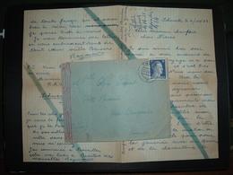 LETTRE ALLEMAGNE FRANCE TP 25 OBL.27.4.43 THORN Pour BRUGHEAS (03) CENSURE - Marcophilie (Lettres)
