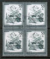 AUSTRIA  Scott # 958 VF USED BLOCK Of 4 (Stamp Scan # 451) - Blocks & Sheetlets & Panes