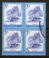 AUSTRIA  Scott # 963 VF USED BLOCK Of 4 (Stamp Scan # 451) - Blocks & Sheetlets & Panes