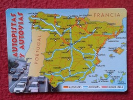 SPAIN CALENDARIO DE BOLSILLO CALENDAR AUTOPISTAS Y AUTOVÍAS ESPAÑA ESPAGNE AUTOROUTES AUTORAILS HIGHWAYS AUTOBAHNEN 2003 - Tamaño Pequeño : 2001-...