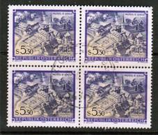 AUSTRIA  Scott # 1361 VF USED BLOCK Of 4 (Stamp Scan # 451) - Blocks & Sheetlets & Panes