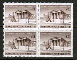 AUSTRIA  Scott # 675* VF MINT LH BLOCK Of 4 (Stamp Scan # 451) - Blocks & Sheetlets & Panes