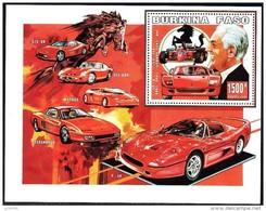 BURKINA FASO Automobiles, Voitures, Cars, Coches, FERRARI, Yvert  52 - Burkina Faso (1984-...)