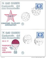SAN MARINO 1977 Stamp Centenary Series Of 11 Covers - San Marino