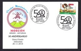 2.- SPAIN 2018 SPECIAL POSTMARK CLIMBING GROUP MOSCON OF GRADO ASTURIAS - Geología