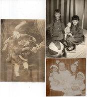 3 Photos Non Localisée - Enfants Et Poupées (111637) - Personnes Anonymes
