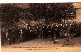 Clermont-Ferrand.Cèdre Planté Le 14 Juillet 1906. Société Des Amis Des Arbres. - Clermont Ferrand