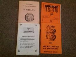 Catalogue De Cartes Postales Dont 2 Uniquement Marilyn Monroe - Français