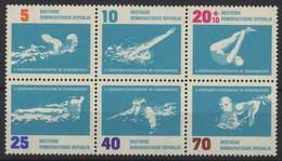 //// 1962 - DDR Yvert 620 / 625** Michel 907 / 912** - [6] République Démocratique