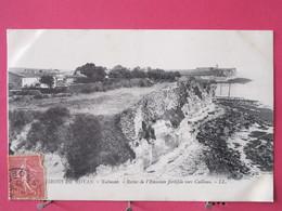 Visuel Très Peu Courant - 17 - Environs De Royan - Talmont - Restes De L'Enceinte Fortifiée Vers Cailleau - Recto Verso - France