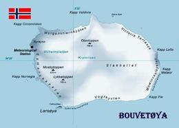 AK Bouvetinsel Landkarte Bouvet Island Map New Postcard - Norwegen