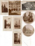 8 Photos Non Localisée - Batiments - Moniuments  - Eglises..  (111639) - Personnes Anonymes