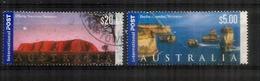 Twelve Apostles & Uluru (hautes Faciales $ 20,00 & $ 5,00.    2 Timbres Oblitérés. 1 ère Qualité - 2010-... Elizabeth II