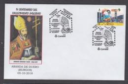 14.- ESPAÑA 2018 MATASELLO ESPECIAL CARDENAL SANDOVAL Y ROJAS 1546-1618 ARANDA DE DUERO - BURGOS - 1931-Hoy: 2ª República - ... Juan Carlos I