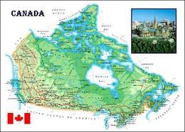 Canada Map New Postcard - Ohne Zuordnung