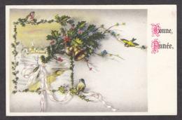 97558/ NOUVEL AN, Village, Cloches, Oiseaux - New Year