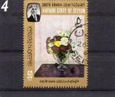 KATHIRI STATE OF SEIYUN 1966 Churchill Paintings 50f CTO - Aden (1854-1963)