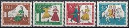 Germania 1965 Sc. B408/B411 Fairy Tales Favole Grimm - Full Set MNH Cenerentola Cinderella - Fiabe, Racconti Popolari & Leggende