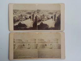 Début 1900 Lot 2 Photos Stéréoscopiques Luxembourg Pfaffenthal 941 Drei Eichel 968 - Photos Stéréoscopiques