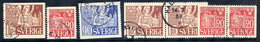 SWEDEN 1946 800th Anniversary Of Lund Cathedral Complete Used.  Michel 318-20A + 318-19 Dl/Dr - Sweden