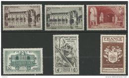 """FR YT 609 à 611 618 661 668 """" TP De L'année """" 1944 Neuf** - Unused Stamps"""