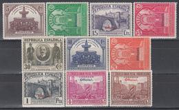 1931   Edifil Nº 620 / 629 /*/, - 1931-Hoy: 2ª República - ... Juan Carlos I