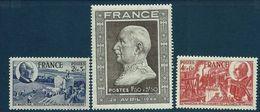 """FR YT 606 607 608 """" Anniversaire Du Maréchal Pétain """" 1944 Neuf** - France"""