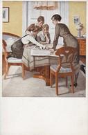 AK Künstlerkarte Wennerberg - Strategie - Kriegspostkarte Nr. 6 - Patriotika - 1. WK (39175) - Wennerberg, B.