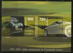 Centenaire Salon Automobile De Genève. Un Bloc-feuillet Neuf ** (carrosserie Ancienne Et Nouvelle) SUISSE - Cars